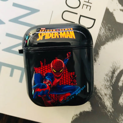 SPIDER MAN GLOSSY SILICONE AIRPODS CASE FOR 1&2