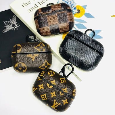Square & Monogram Lv Design leather AirPods Pro Case