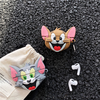 TOM & JERRY PRO SILICONE AIRPODS CASE COVER FOR PRO