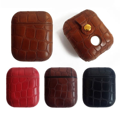 EMBOSSED CROCO CLOUDS LEATHER AIRPODS CASES