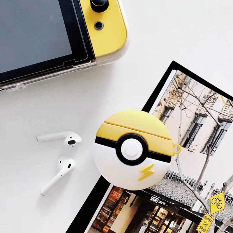 Pokemon Poke Ball Silicone Airpods Case - Hanging Owl