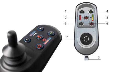 folding electric wheelchair joystick
