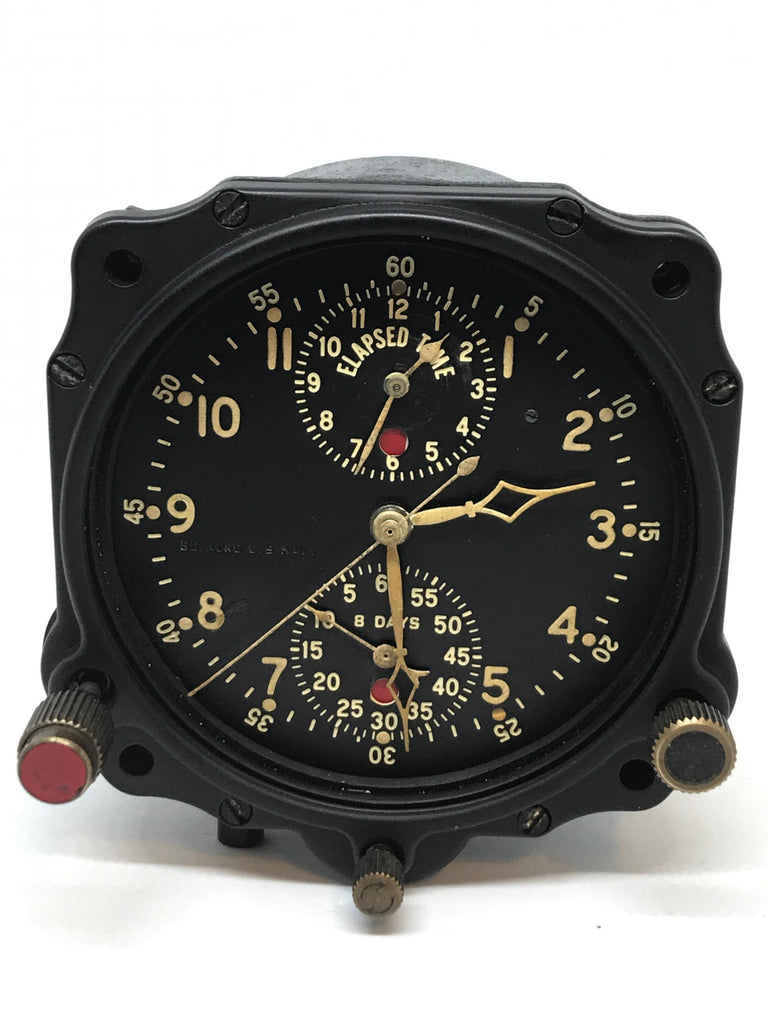 Vintage US Navy WW2 Jaeger LeCoultre Chronoflite Aircraft Clock