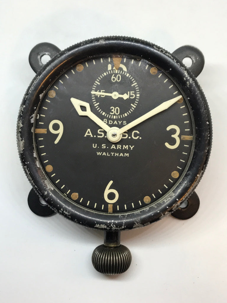 WW1 US Army Waltham XA Aviation Section Signal Corps Military Aircraft Clock