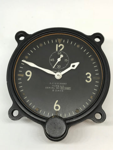 Waltham Type A-5 US Army Air Corps Aircraft Clock