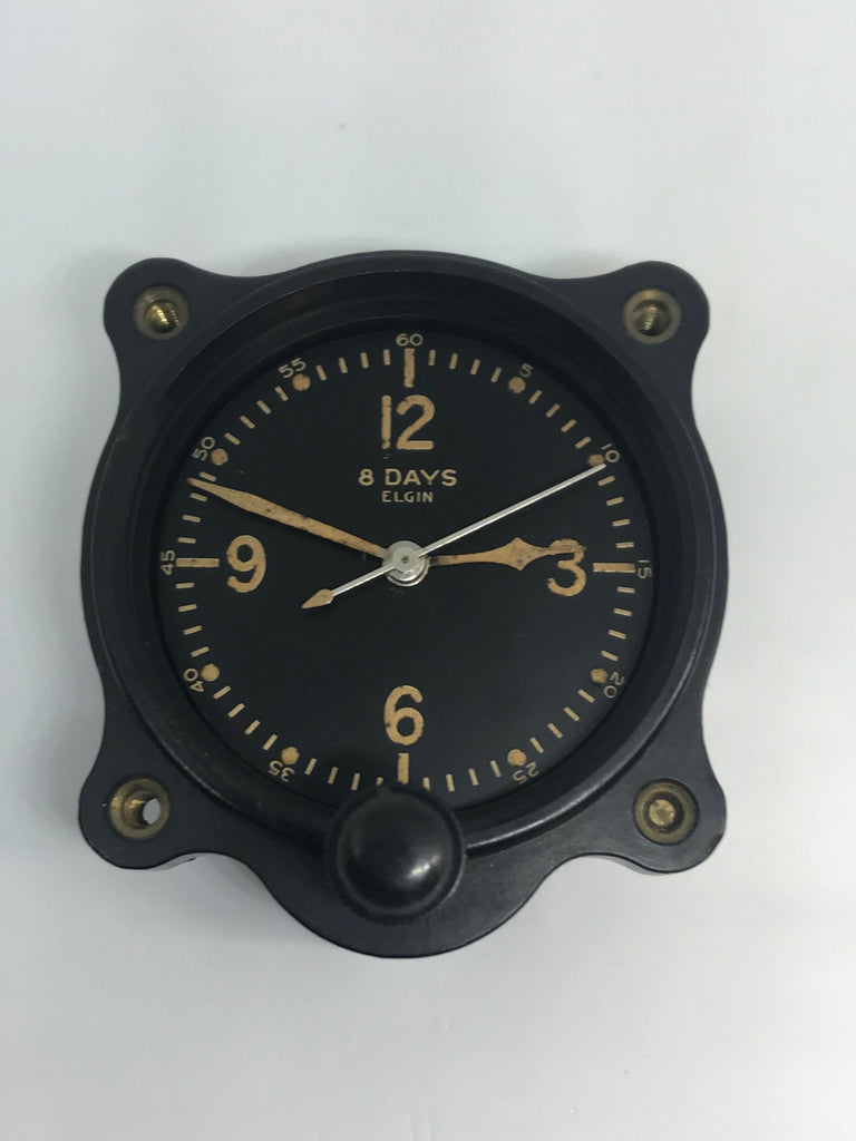 Vintage 8-Day Elgin WW2 Aircraft Clock A-11