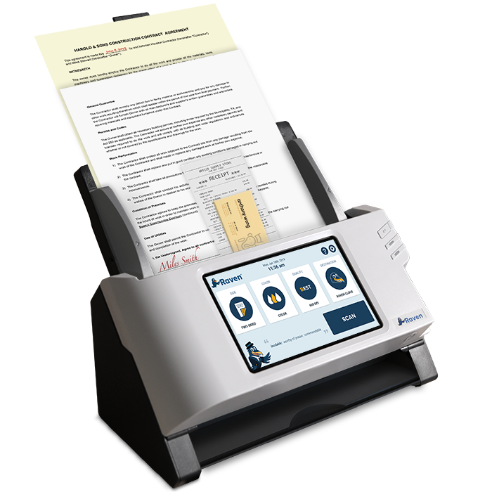 Raven Scanner Plus Multiple Documents