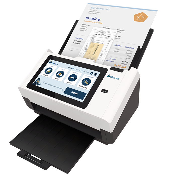 Raven Pro Document Scanner - Wireless Scanning to Cloud