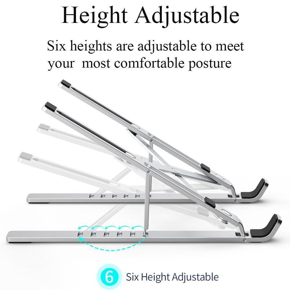 Foldable Aluminum Alloy Notebook Stand