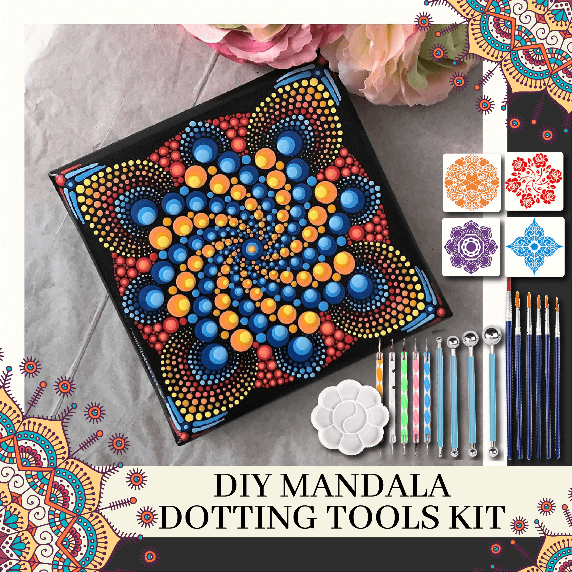 DIY Mandala Dotting Tools Kit