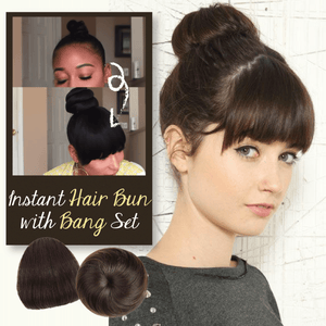 Instant Hair Bun with Bang Set