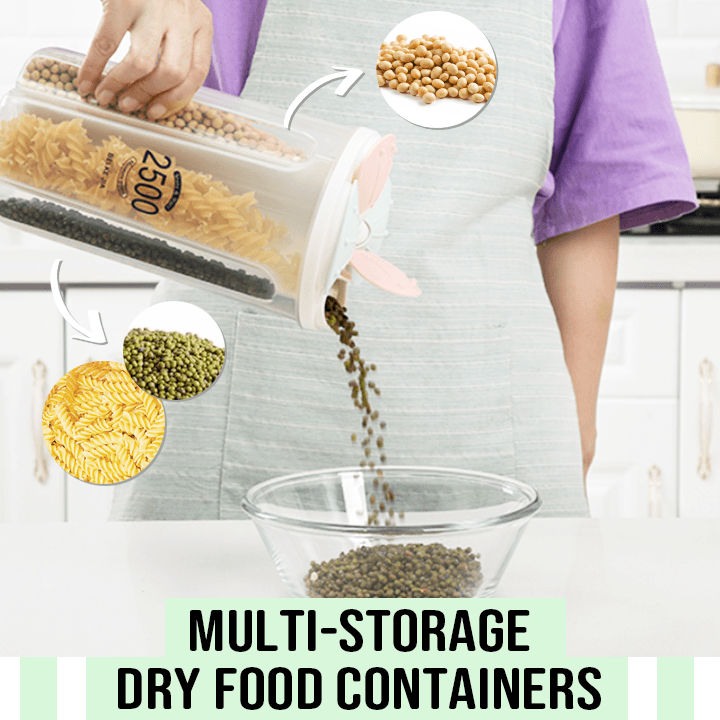 Multi-Storage Dry Food Containers
