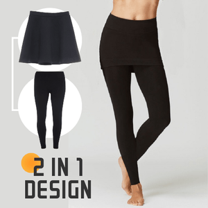2-in-1 Cashmere Skirt Leggings