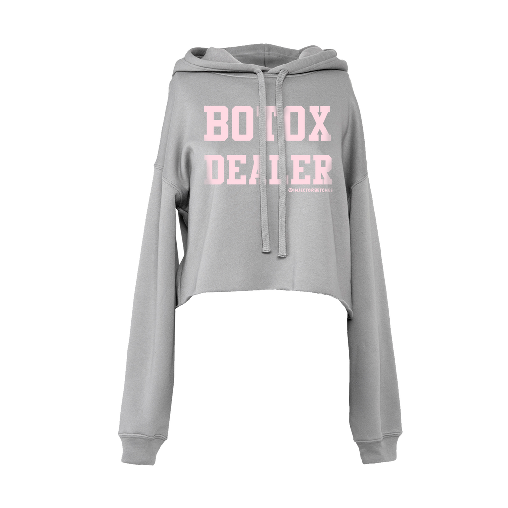 Botox Dealer Crop Hoodie in Storm
