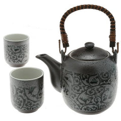 Iron and Indigo Tea Set
