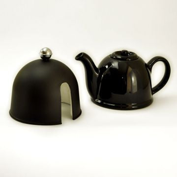 Matti Black Porcelain Teapot with Cover