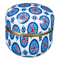 Blue Geometric Tin