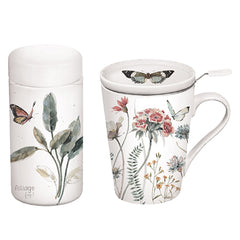 Botanical Infuser Cup and Tea Canister Gift Set