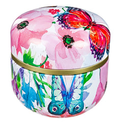 Butterfly or Dragonfly Tea Tin