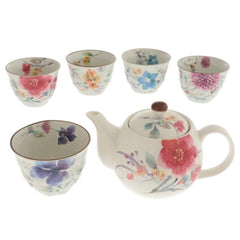 Watercolor Cottage Garden Tea Set