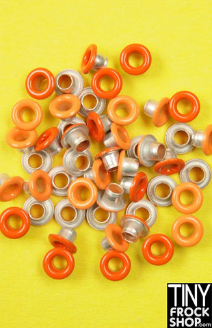 1/8 INCH - Barbie Small Round Mixed Color Eyelets - MORE COLORS - Pack of 12