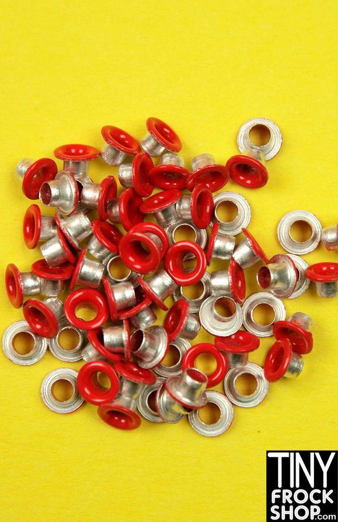1/8 INCH - Barbie Small Round Solid Color Eyelets - MORE COLORS - Pack of 12