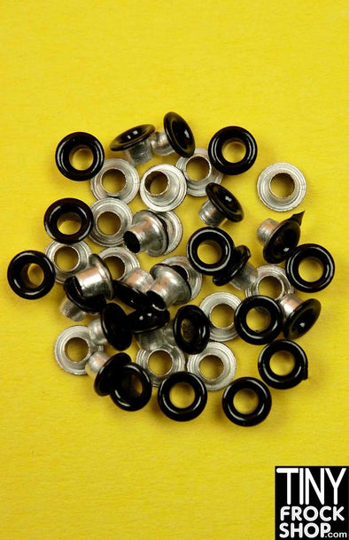 1/8 Inch - Barbie Small Round Solid Color Eyelets - Pack of 12 - TinyFrockShop.com