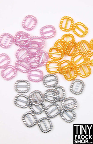 8MM - 12MM - Barbie Pearl Mini Buckles - Pack Of 2!