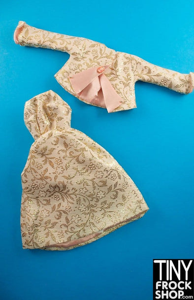 "16"" Gene Marshall Gold Brocade Outfit"