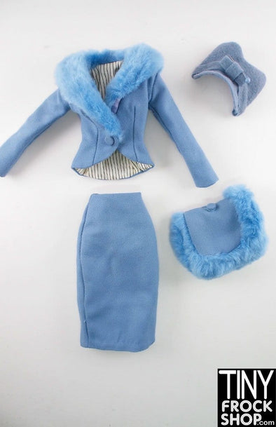 "16"" Gene Marshall Light Blue And Fur Clothing Set"