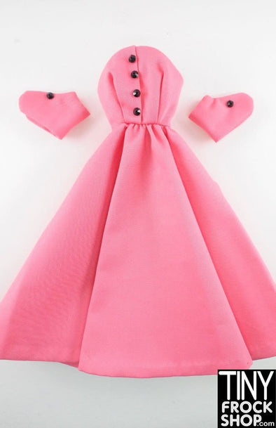 "16"" Gene Marshall Pink Twill Dress With Separate Sleeves"
