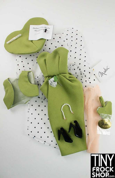"16"" Madra Heartless 8 Piece Olive Outfit - TinyFrockShop.com"