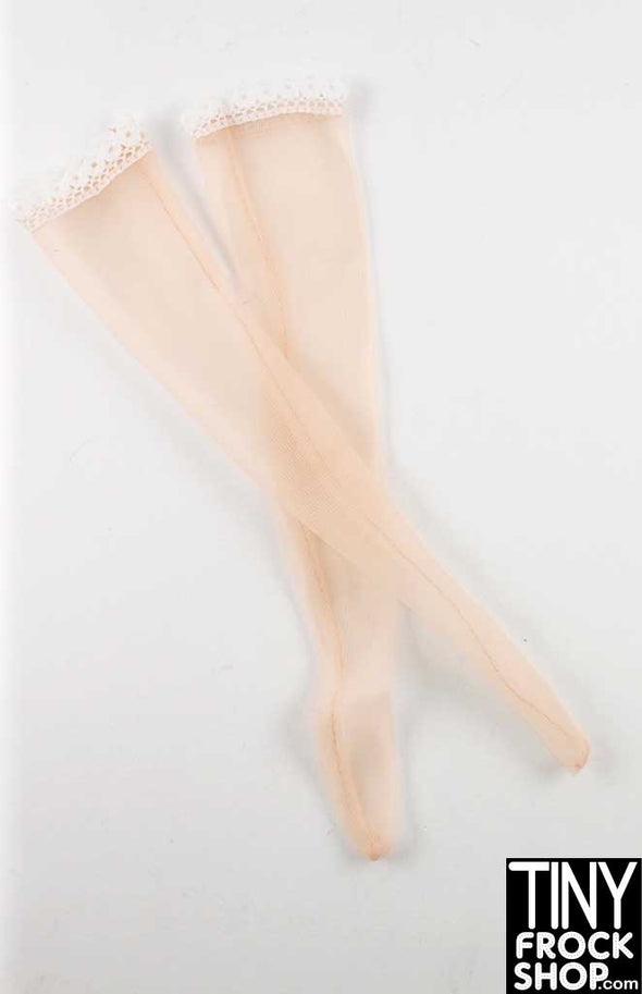 16 Inch Doll Caucasian Tall Nylon Stockings