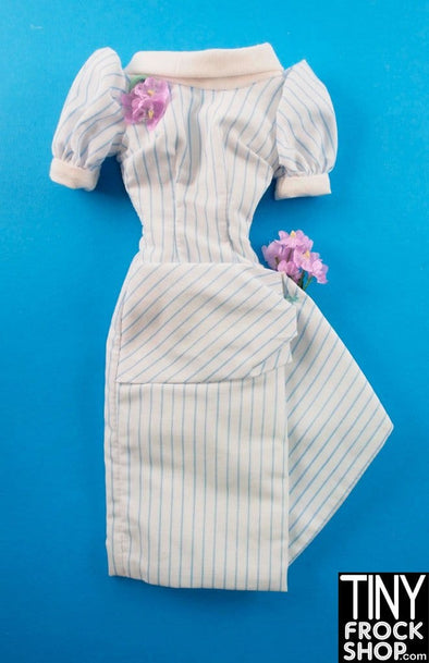 "16"" Gene Marshall Cotton Stripe Puff Sleeve And Floral Dress"