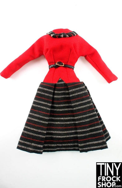 "16"" Gene Marshall Red And Striped Dress"