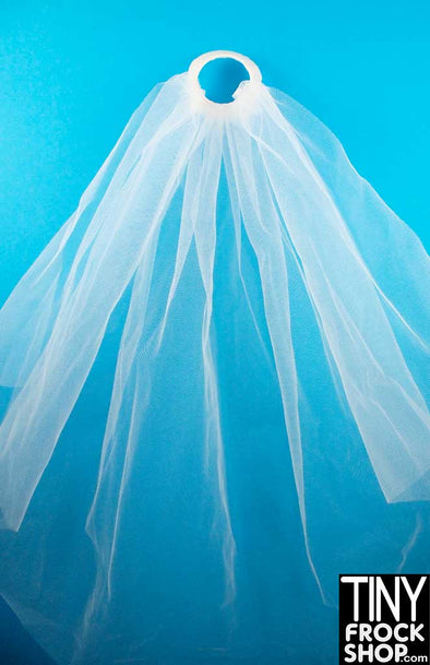 16 Inch Doll Pearl And Tulle Wedding Veil