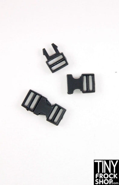 16mm x 8mm Barbie Doll Size Plastic Tiny 2 Pin Working Snap Buckles Pack Of 2