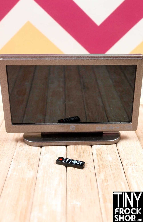 "Barbie 3.25"" Flat Screen TV with Remote! - Tiny Frock Shop"