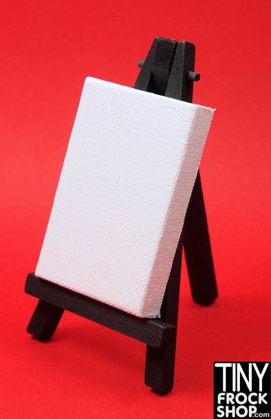 Barbie Sized Blank Art Canvas with Easel - TinyFrockShop.com