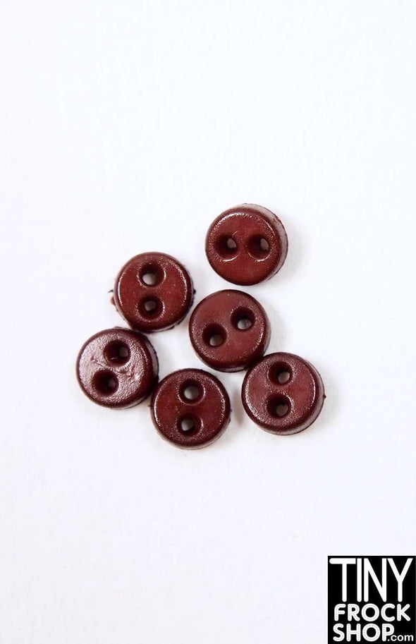 4mm - Barbie Quality Mini Flat Chunk Buttons - Pack Of 6 - TinyFrockShop.com