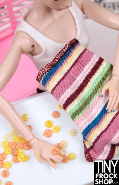 4MM - Barbie Mini Round Mixed Bag of Buttons - Pack Of 24 - MORE COLOR COMBOS! - Tiny Frock Shop