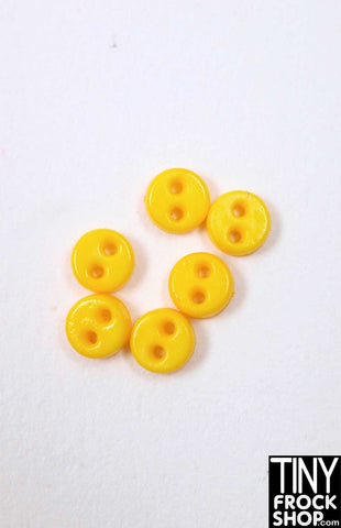 4MM - Barbie Quality Mini Flat Chunk Buttons - Pack Of 6 - MORE COLORS!