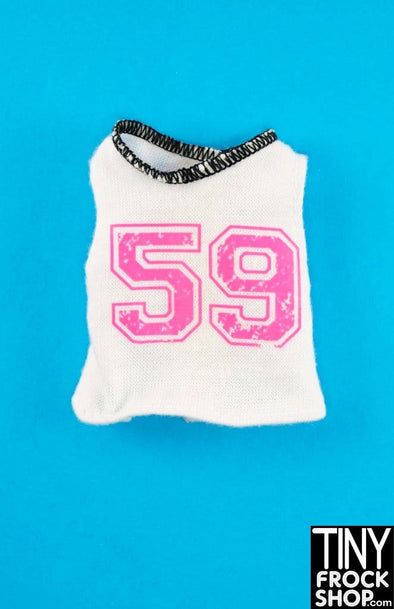 Barbie 59 White And Pink Graphic Tee