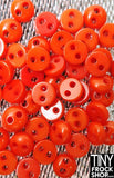 5MM - Barbie High Quality SUPER SMALL Resin TINY 2 Hole Buttons - 12 pcs - 12 COLORS!
