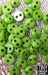 5mm - Barbie High Quality Super Small Resin Tiny 2 Hole Buttons - 12 pcs - TinyFrockShop.com