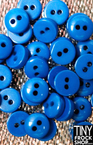 Barbie High Quality Resin 2 Hole Buttons - 12 pcs - 6MM - 12 COLORS!