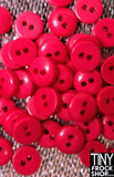 6MM - Barbie High Quality Resin 2 Hole Buttons - 12 pcs - 12 COLORS!