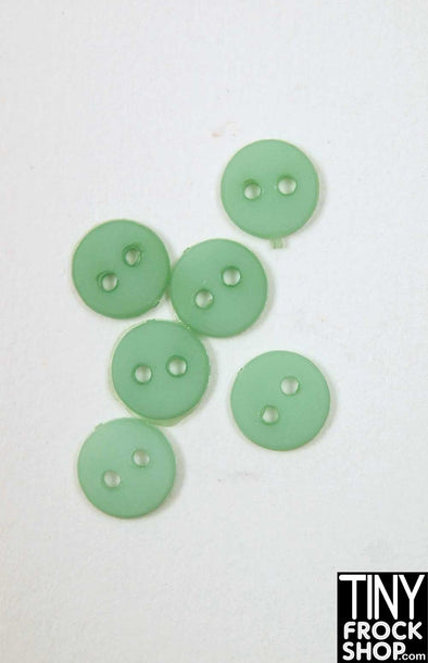 6mm - Barbie Flat Buttons - Pack Of 6 - TinyFrockShop.com