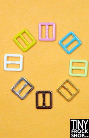 8MM - 5MM Barbie Candy Colored Small Buckles - MORE COLORS!