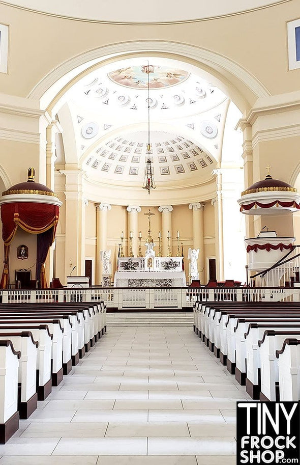 A-143 (W) Barbie Photography Backdrop - Wide - Baltimore Church